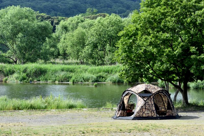 河原や河川敷での野営