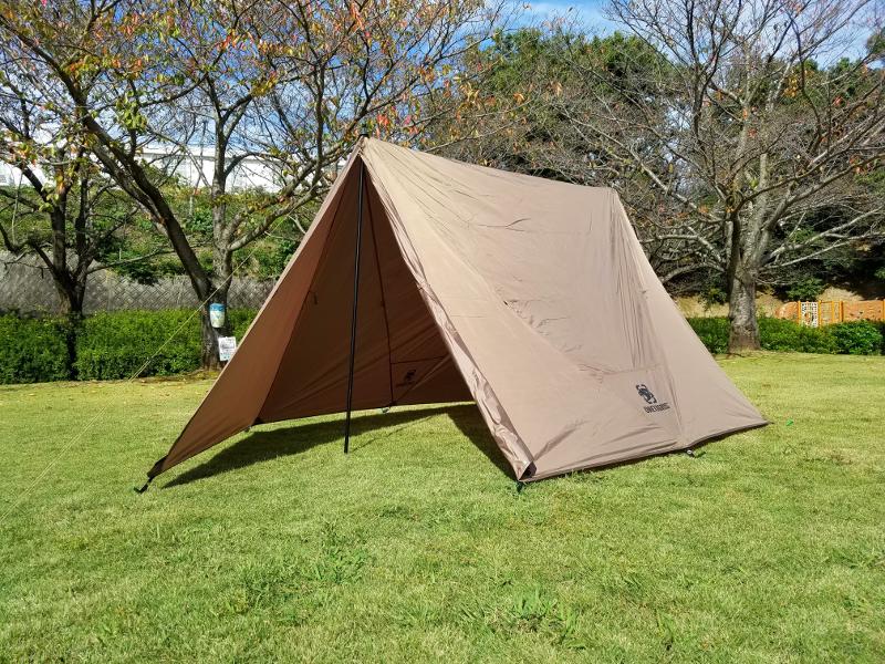 OneTigrisのブッシュクラフトテントのAフレーム型テント