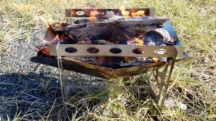 100時間燃焼しても変形しない!?ブルーゴの折り畳み式焚火台のご紹介