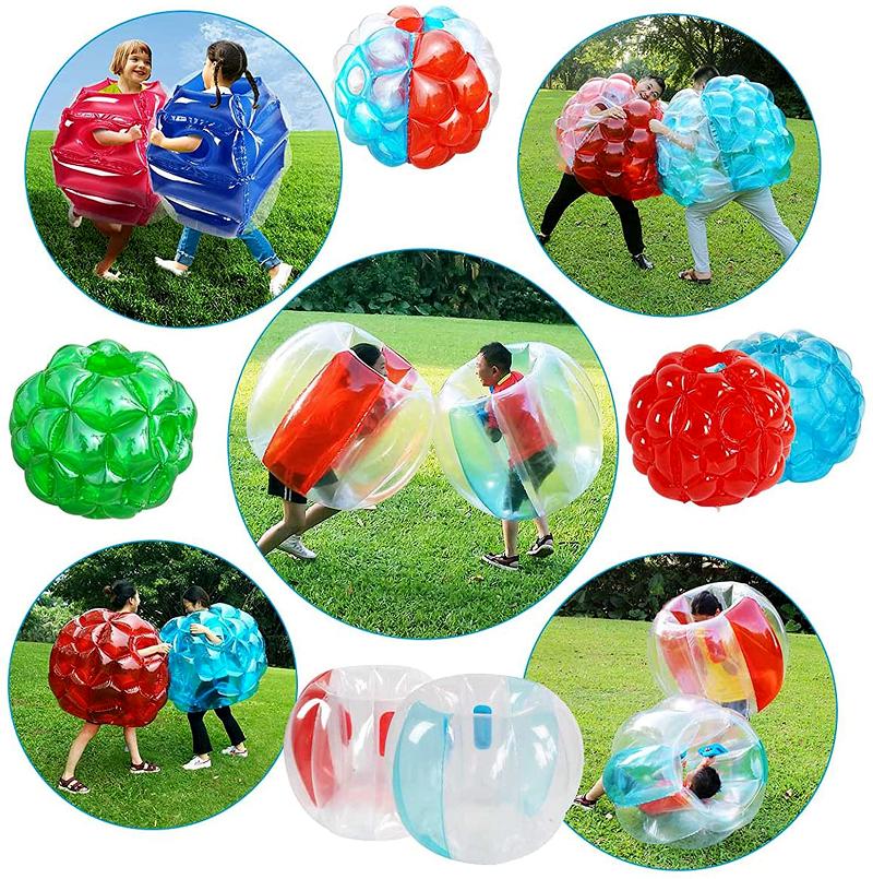 子供と一緒にバブルボール