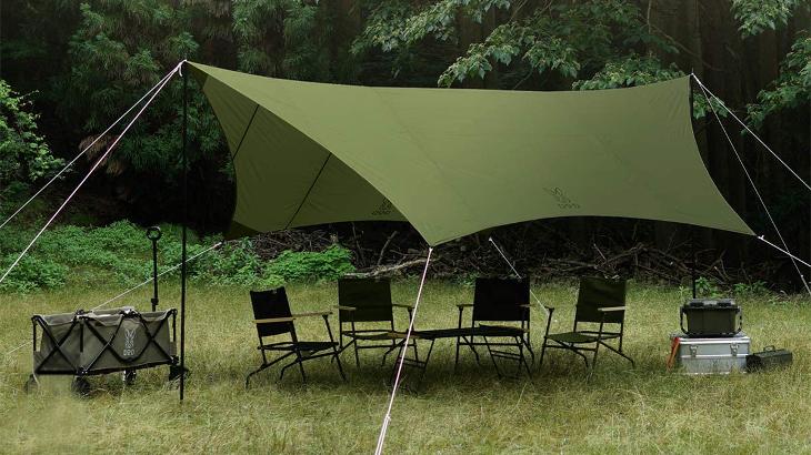 全部で3万円以下!テントも焚き火台もタープも込みで夏キャンプ優秀ギアを揃える!