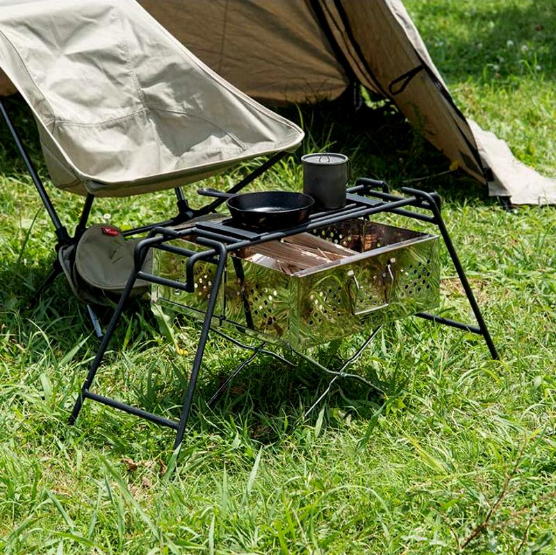 無骨キャンプのクッカースタンド
